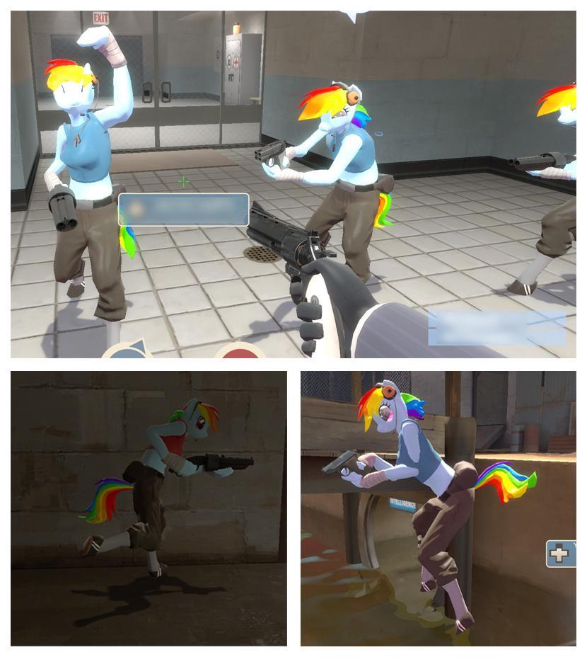 Rainbow Dash Scout for TF2 3