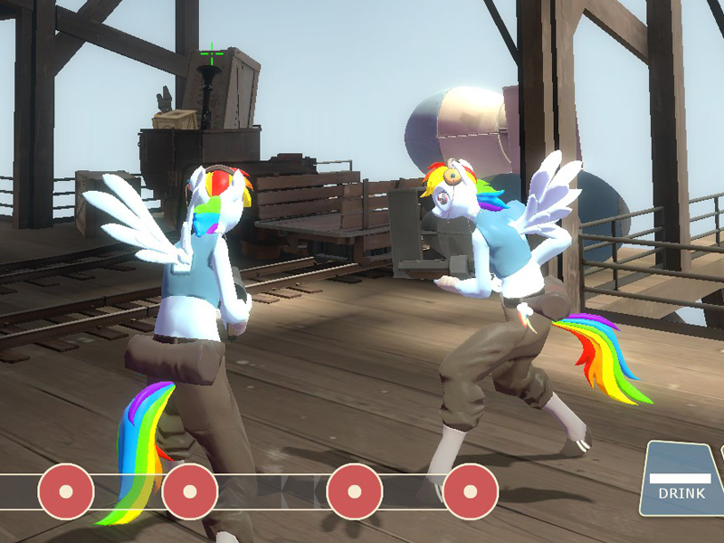 Rainbow Dash Scout TF2 Wings