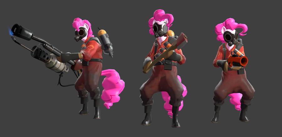 Pinkie Pie Pyro Wip by Kassgrein