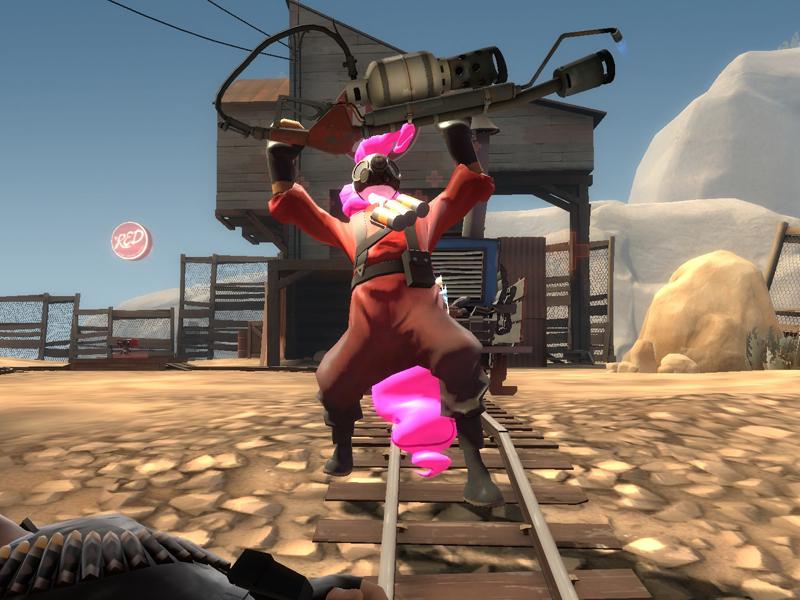 Pinkie Pyro Pie for TF2 mod by Kassgrein