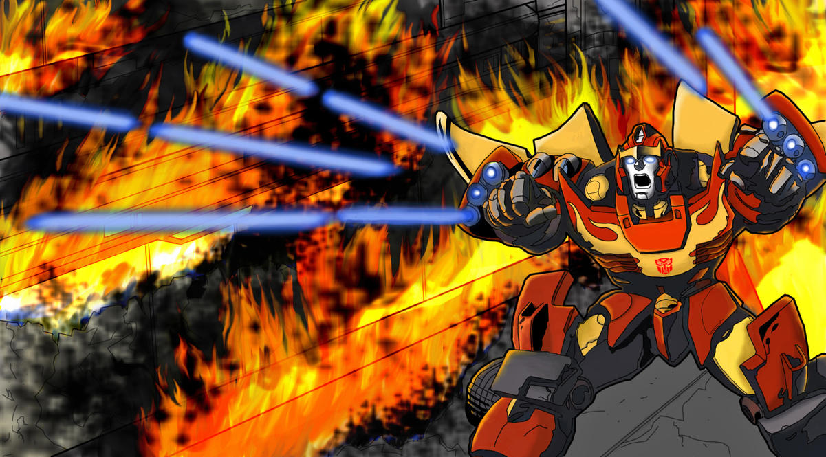 Rodimus - Raging inferno by skydive1588