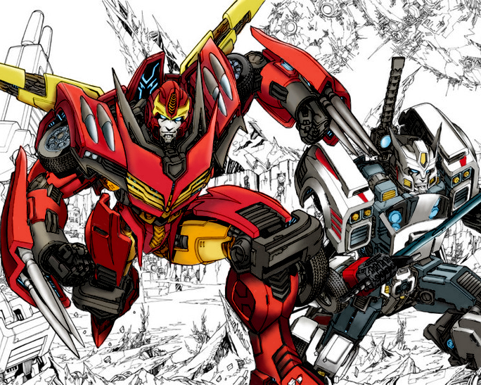 Rodimus and Drift by skydive1588