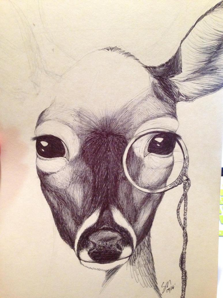 Monocle Deer WIP by McIcereamers