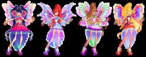 COLLAB : Winx club - Enix Transformation concepts by KeroCreations