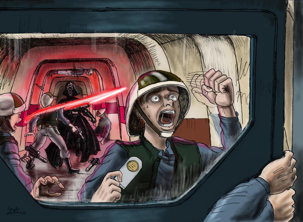 Vader Killing Rebels Scum by Darkdouglas