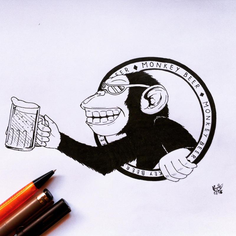 Monkey Beer by monteruis
