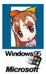 95-tan Microsoft Badge