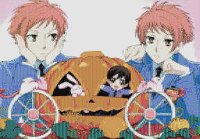 Hitachiin Twins - Ouran Mosaic by smallrinilady