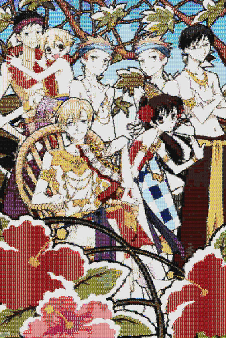Tropical Ouran Mosaic by smallrinilady