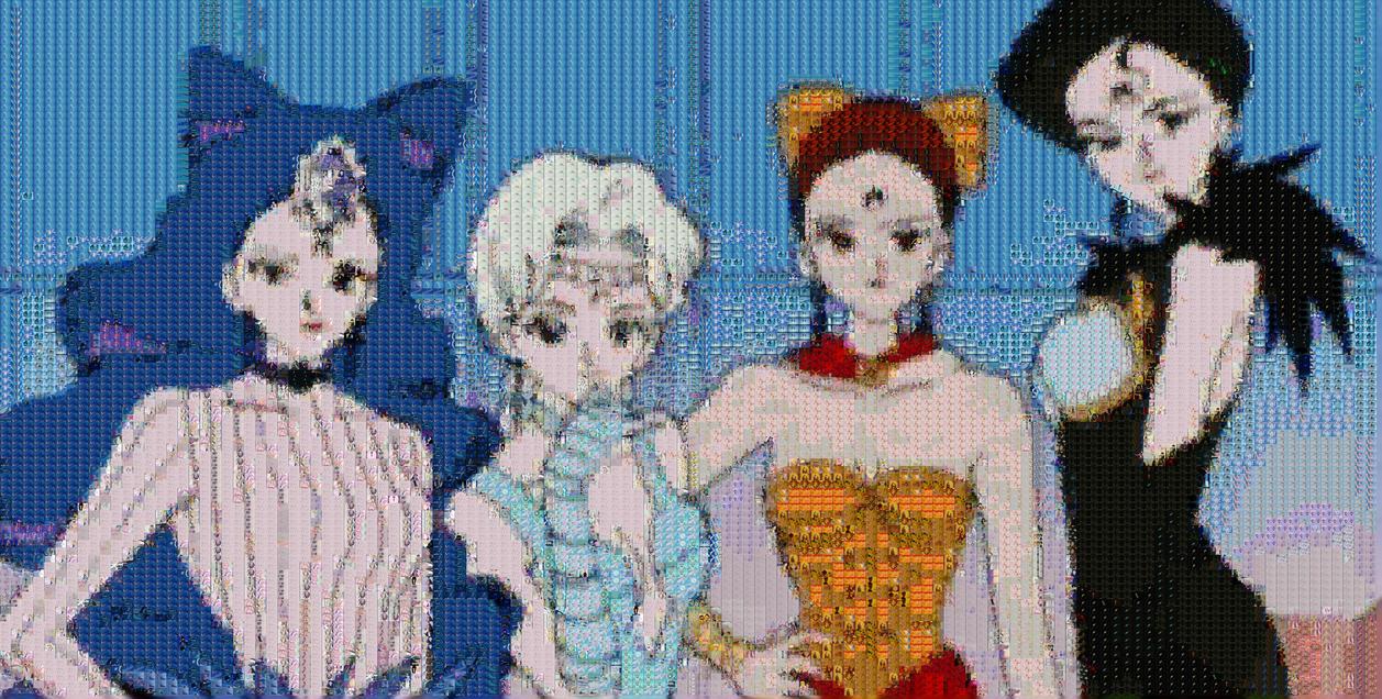 Black Moon Sisters Mosaic by smallrinilady