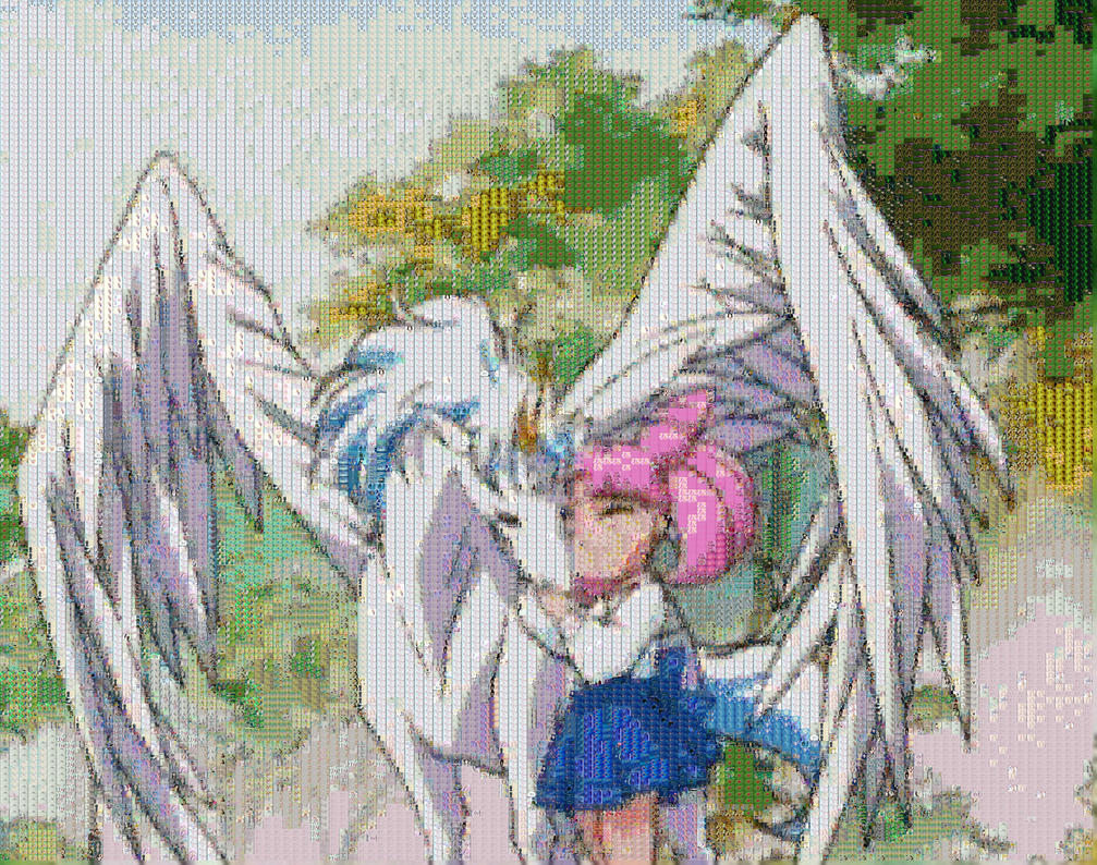 ChibiUsa and Pegasus by smallrinilady