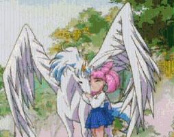 ChibiUsa and Pegasus by smallrinilady