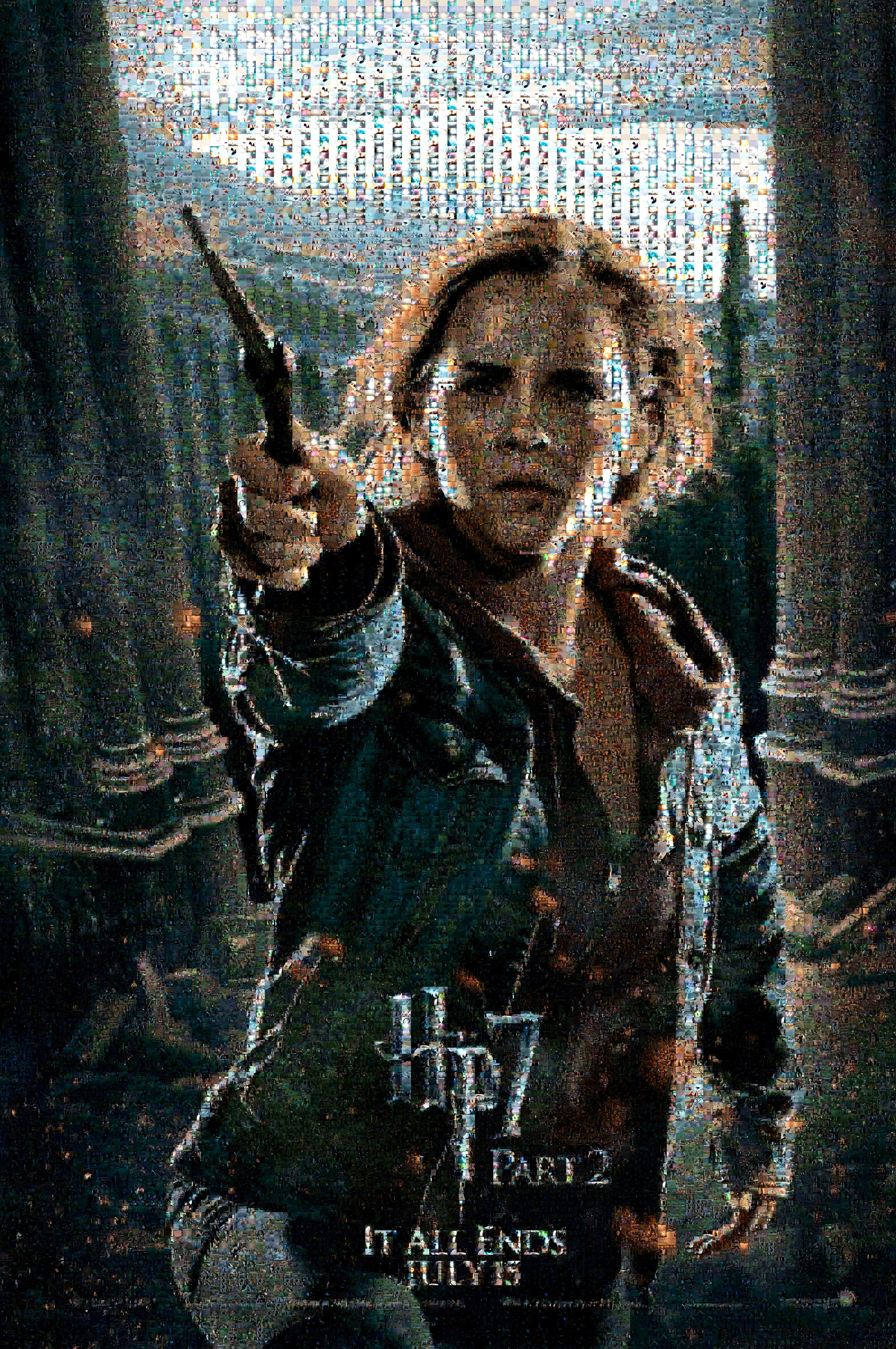 HP7 Hermione Mosaic Poster