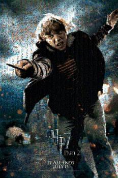 HP7 Ron Movie Poster Mosaic