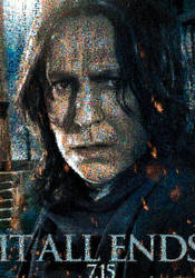 HP2 - Snape Mosaic poster