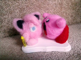 Kirby VS Jiggly Puff Felted