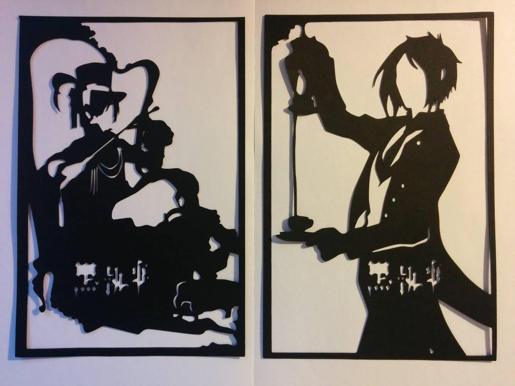 kuroshitsuji PaperCuts by smallrinilady