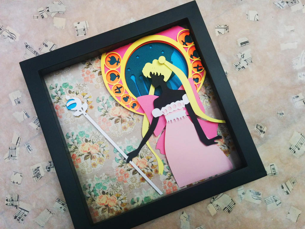 Sailor Moon Crystal Paper Cut by smallrinilady