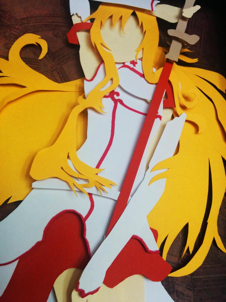 Asuna Blood Knights Papercut by smallrinilady