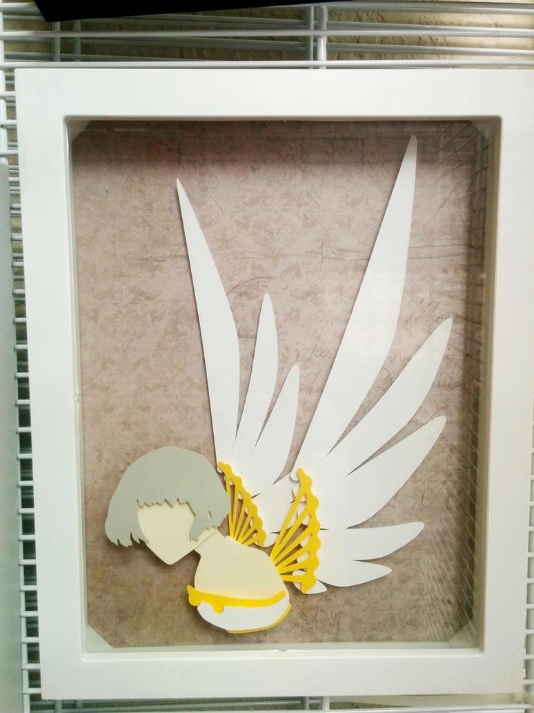 Clover PaperCut Paper Illustration Shadbowbox by smallrinilady
