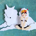 Princess Mononoke papercut
