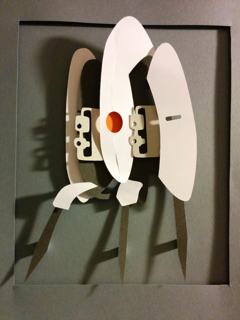 Portal Turret PaperCut by smallrinilady