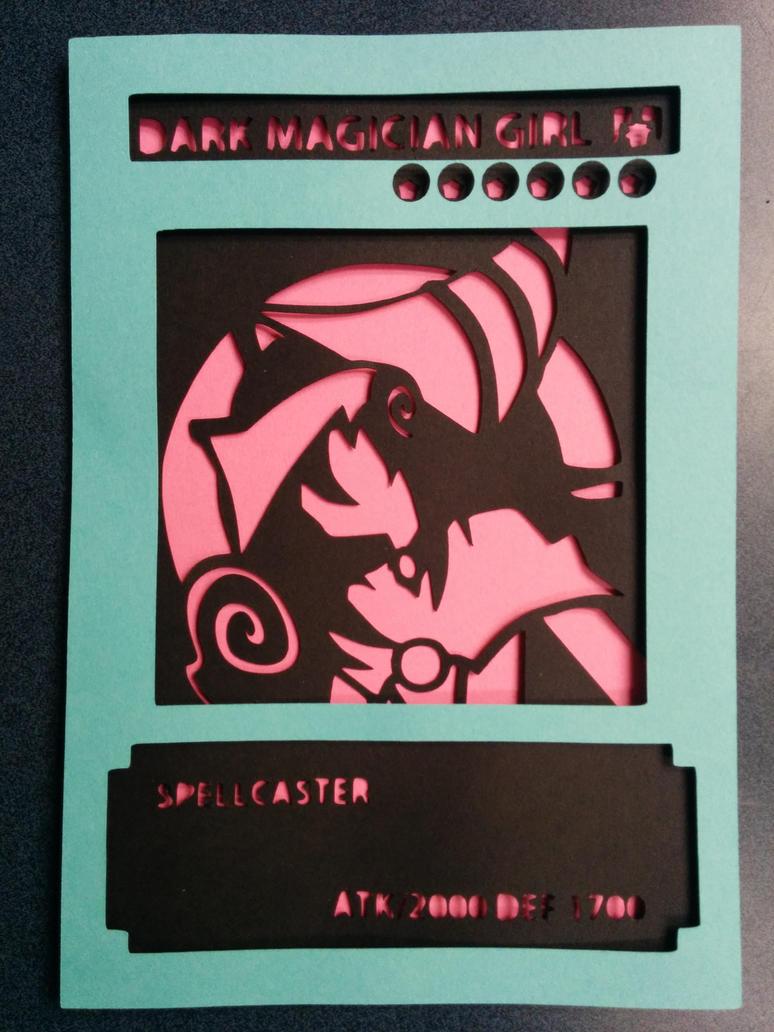 Dark Magician Girl Card Papercut by smallrinilady
