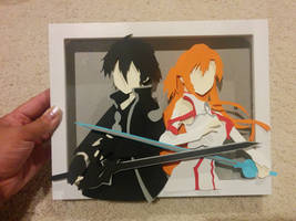 kirito and asuna SAO papercut