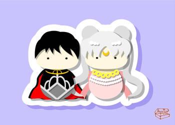 princess serenity and prince endymion Kokeshi