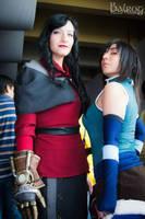 Asami and Korra by Darth-Kaoru