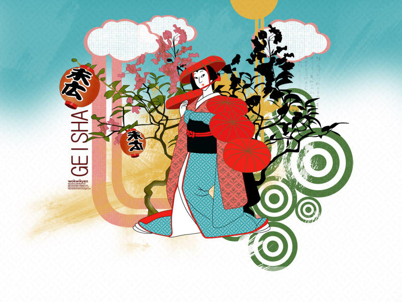 Geisha by wokwikyen