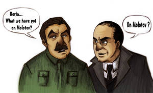 Stalin and Beria by Chater