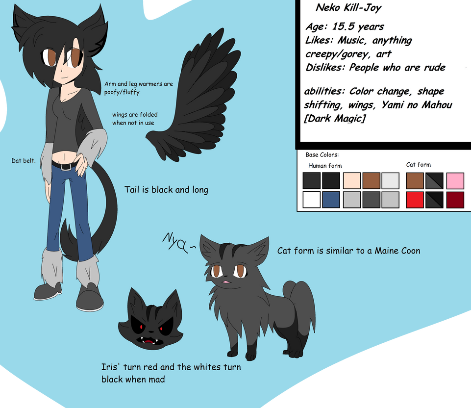 Commish: Neko KIll-Joy ref by pokemonmae3