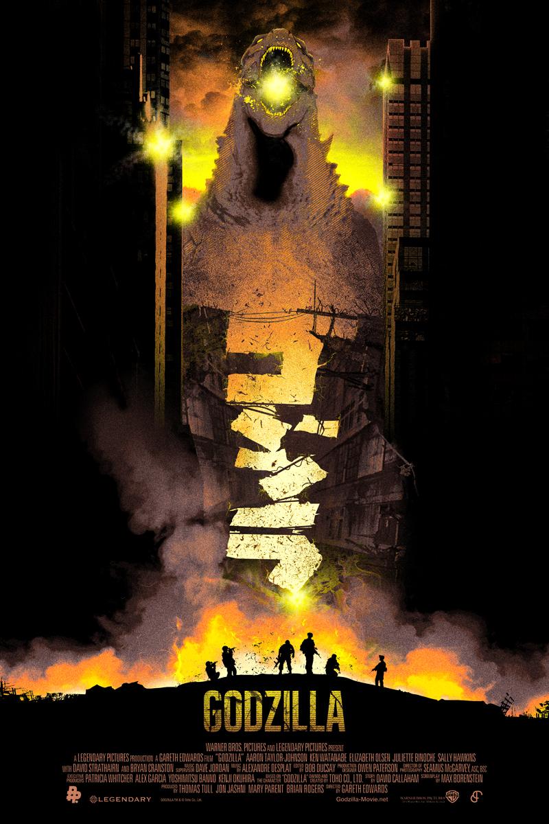 Godzilla / Orange Blast Variant by BarbarianFactory
