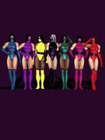 All female Ninjas. by anorexianevrosa