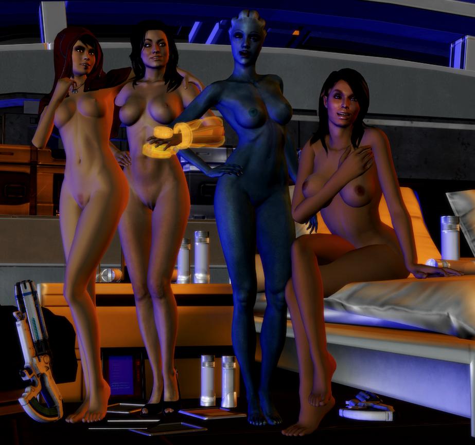 Mass Effect Girls posing... by anorexianevrosa