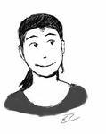 Josie sketch on my new mini-tablet