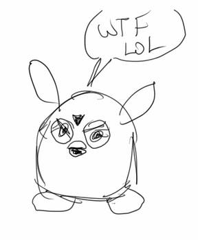 Furby's first impressions of the artist