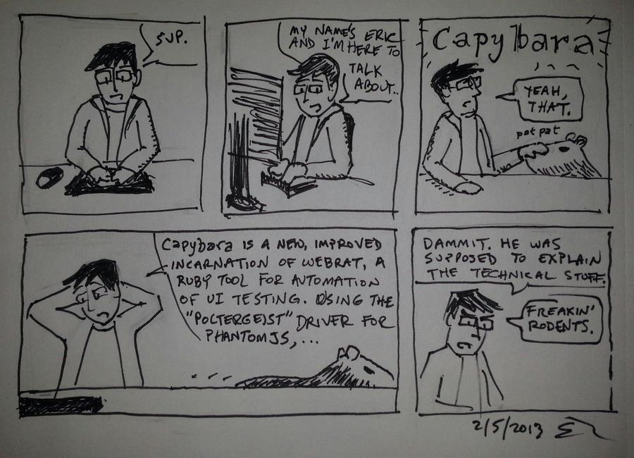 Capybara comic by spazahedron