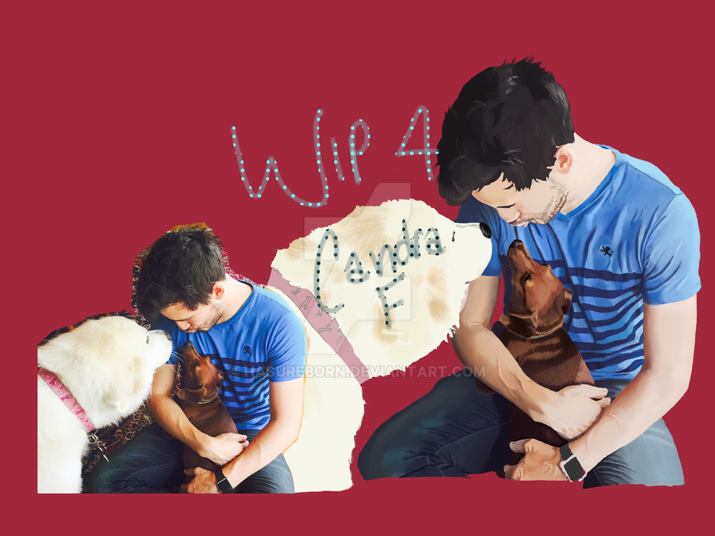 Mark and the pups WIP 4 by HasuReborn