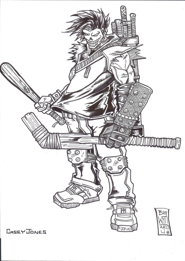 Tmnt Coloring Pages April : Casey jones by wyzewun on deviantart