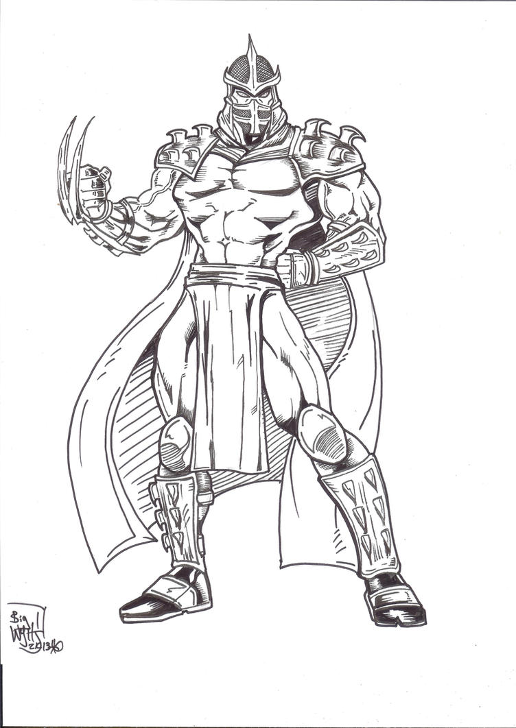 shredder coloring pages - photo#10