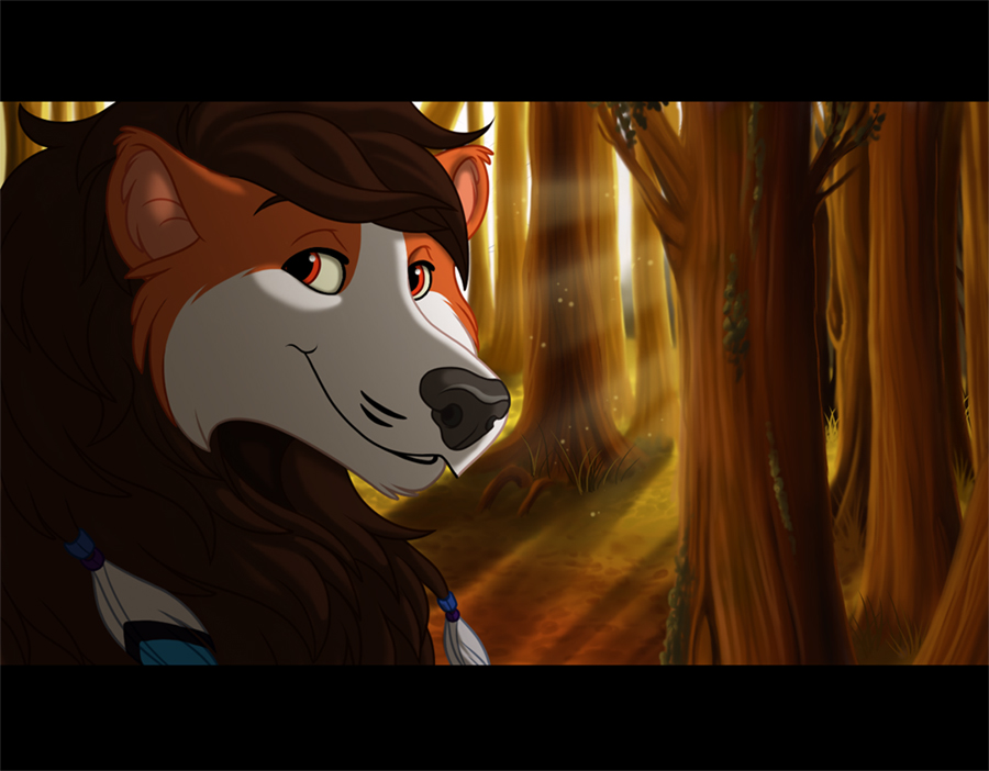 Light Through the Trees by kohu-arts