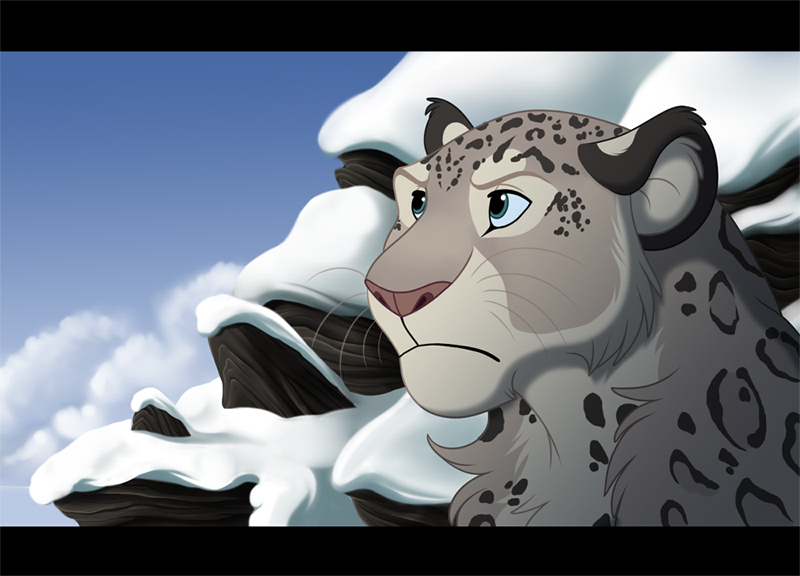 how to draw snow leopard head front view drawing
