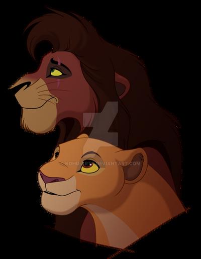 Kovu and Kiara by kohu-arts