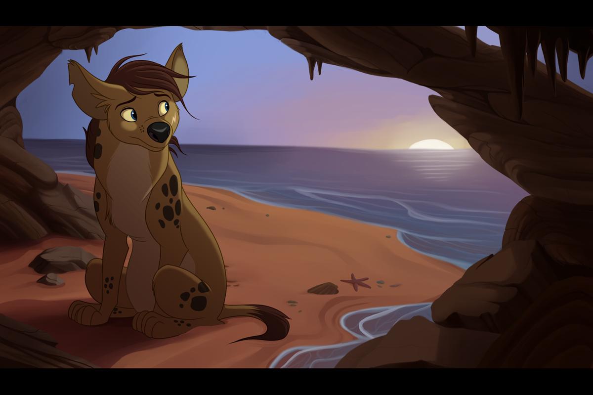 Ocean Hyena - Art Trade by kohu-arts