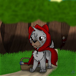 Little Red Riding Wolf by Vixey-Wolf