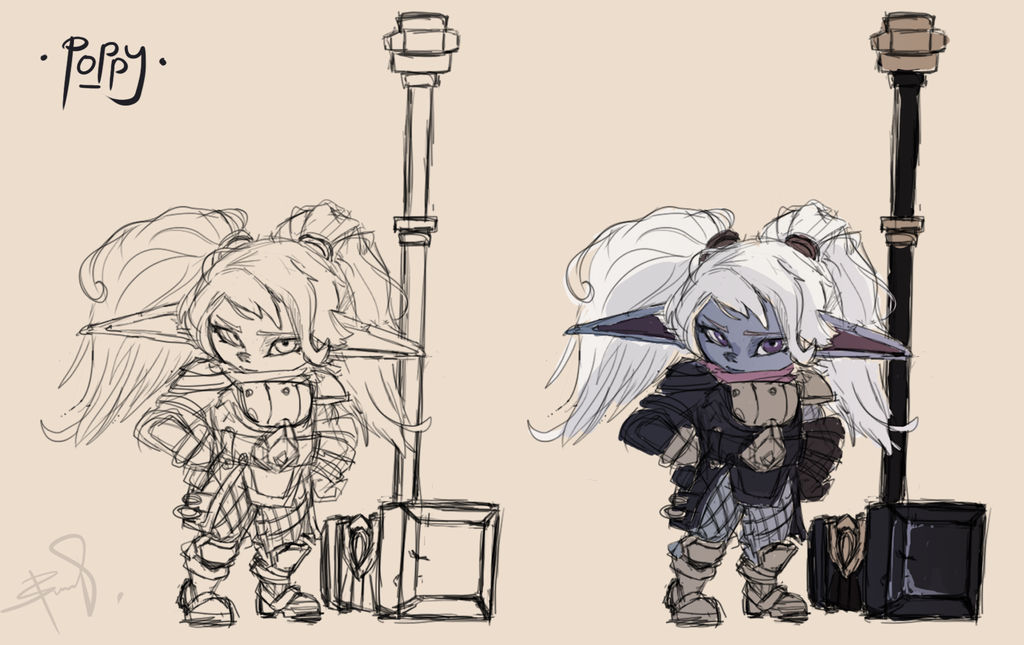 Poppy Full Body Sketch League Of Legends By Notywq On Deviantart Btw if anyone wants to play it with me tell me into league of legends official? poppy full body sketch league of