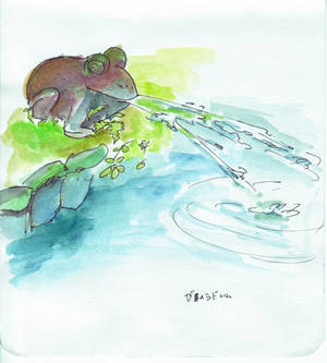Byoudou-in spitting frog