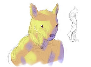 man kitty sketch